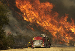 Conflagration in California