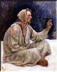 Серов, фрагмент картины «Боярыня Морозова»