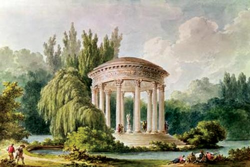 The Temple of Love, ancient engraving