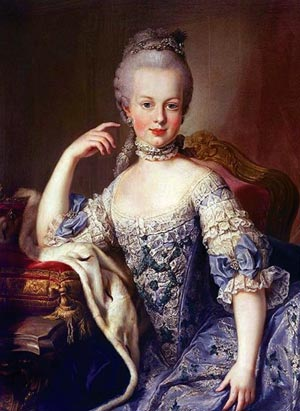 16-year old Princess Marie Antoinette