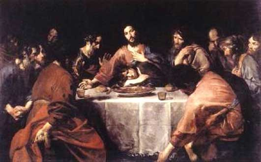 «Last Supper». Valentin de Boulogne