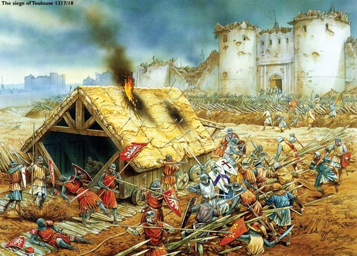 The Cathar-warriors. A united army of the Count of Toulouse defends Toulouse from the Papal mercenaries.