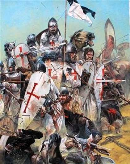 Hundreds of the Knights Templar died fighting thousands...