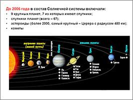 Спутники планет в Солнечной ситеме