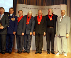 Nicolai Levashov's awarding ceremony with the Order The Pride of Russia, 2008