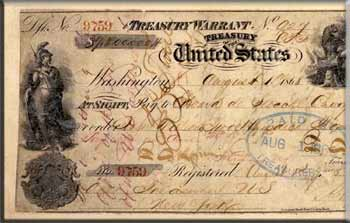The check of $7.2 million for the lease of Russian America � Alaska, issued August 1, 1868